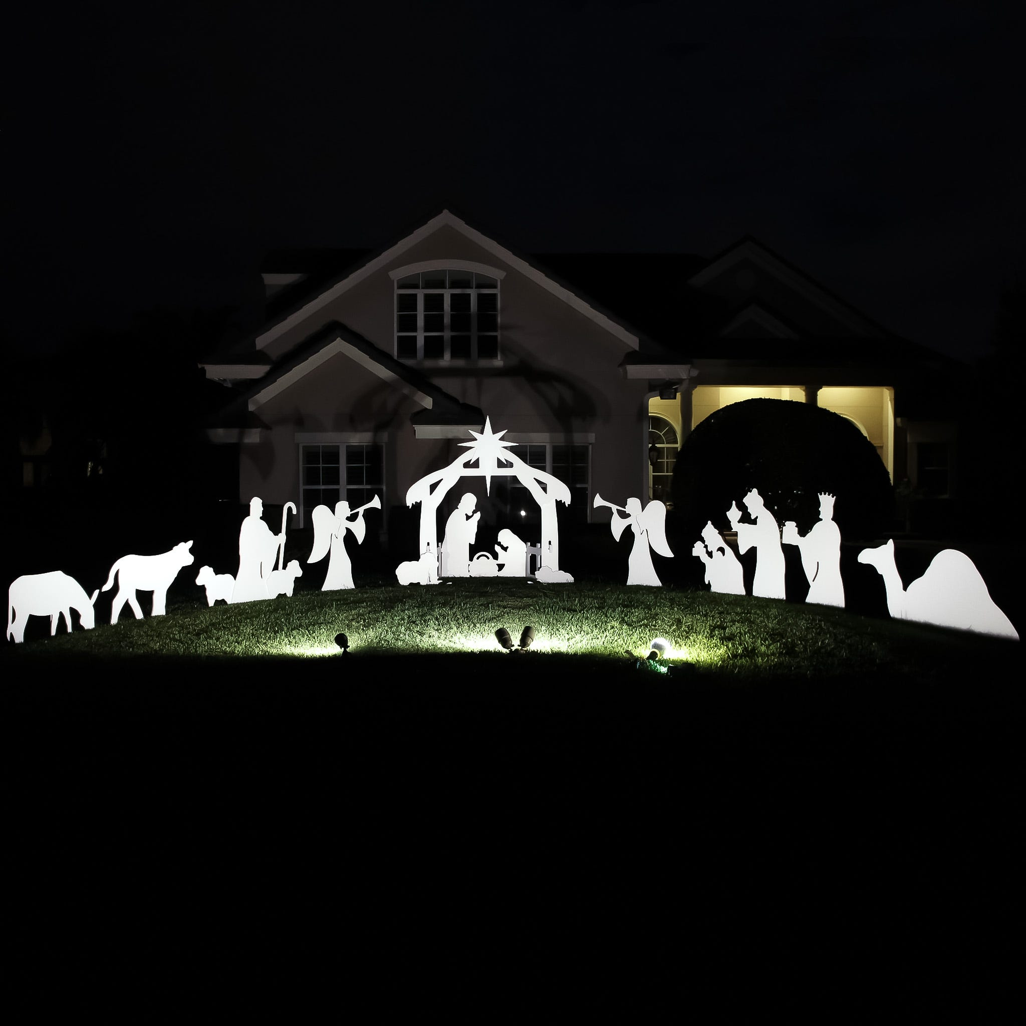 Holy Night Complete Nativity Scene - Large