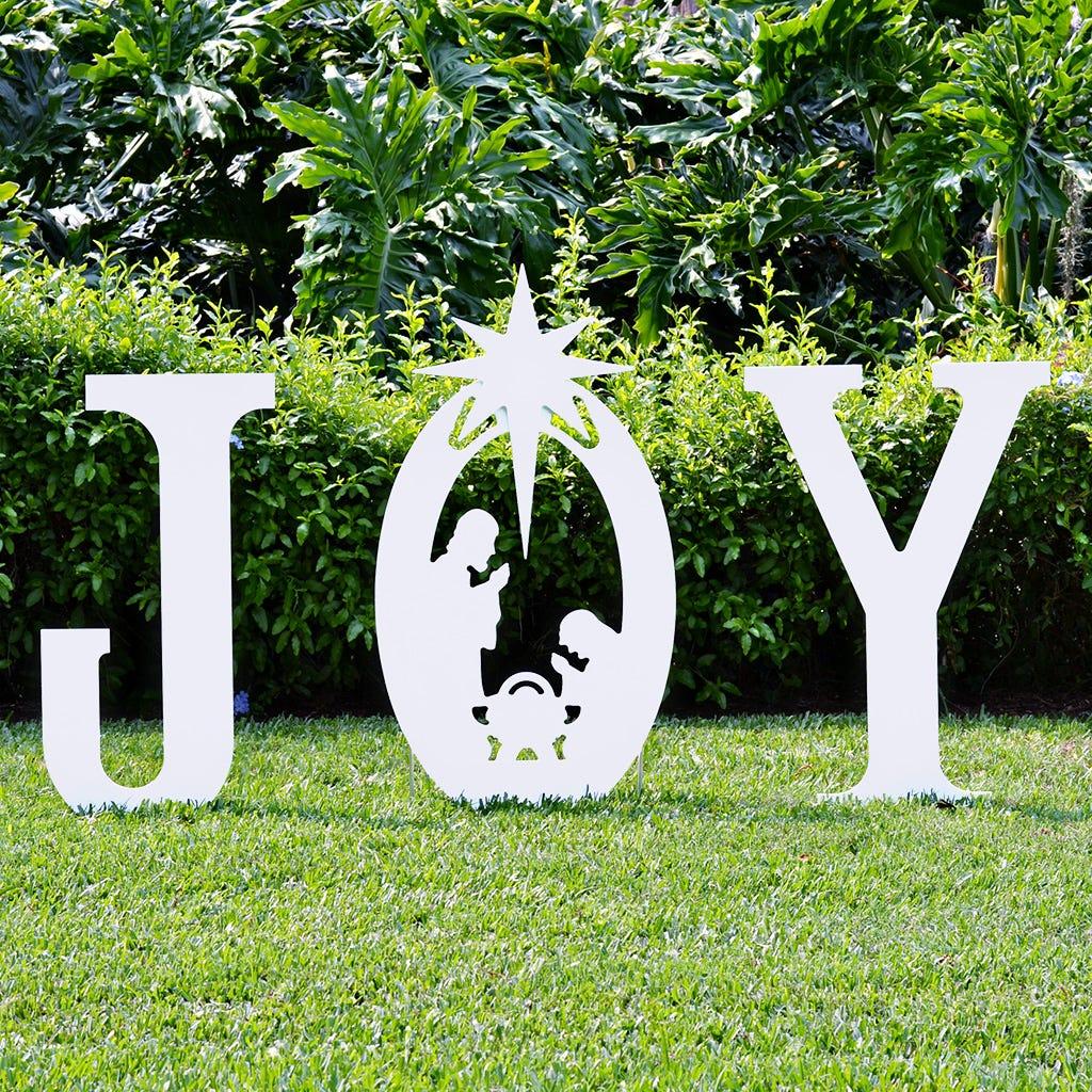 Joy Nativity Yard Sign