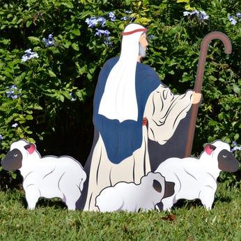 Nativity Shepherd with Sheep (Printed)
