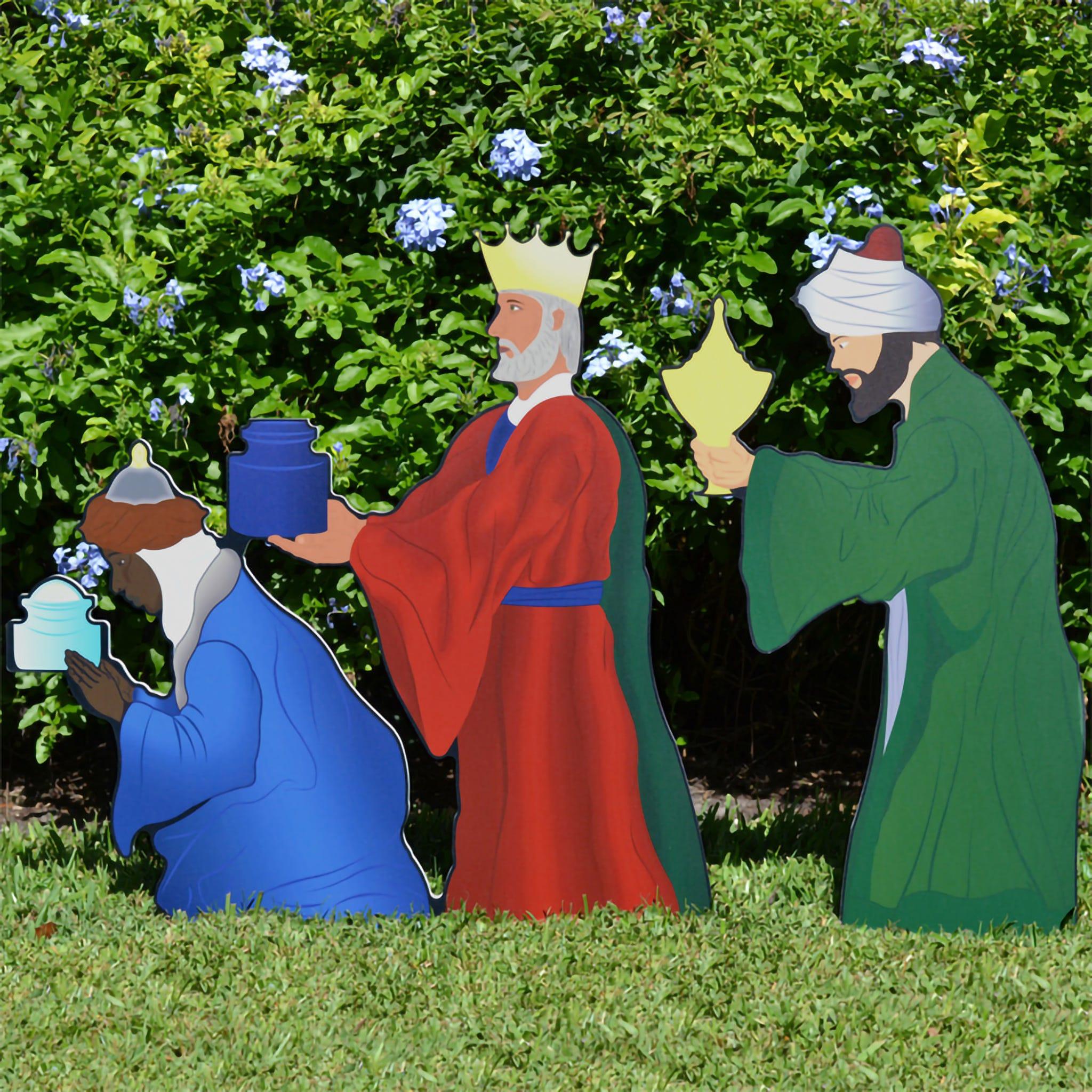 Three Wise Men Nativity Figures (Printed)