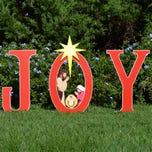 Joy Nativity Printed Yard Sign